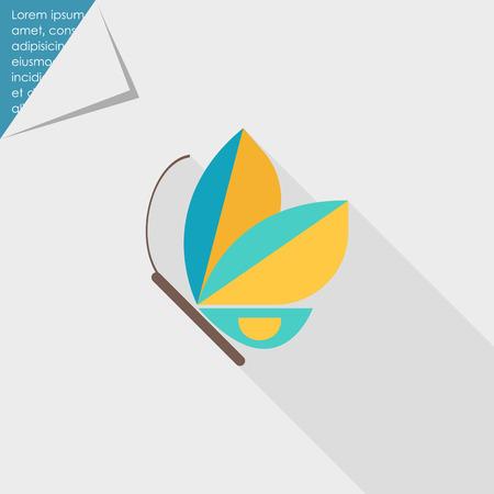 arthropods: Blue butterfly icon