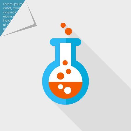 veneno frasco: Icono del frasco qu�mico de laboratorio con el l�quido burbujeante