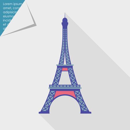 Eiffel tower icon 向量圖像