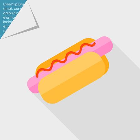 perro caliente: Icono de perro caliente Vectores