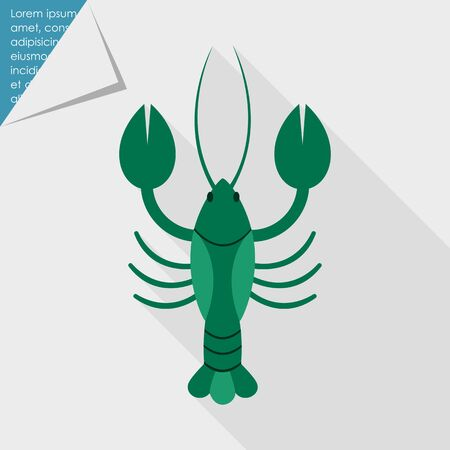 lobster isolated: Lobster icon