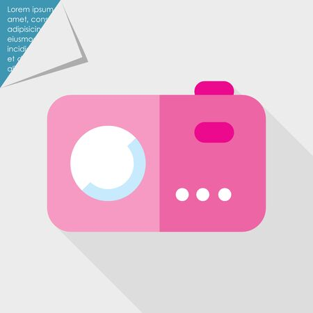 photo album: Icon of pink photocamera Illustration
