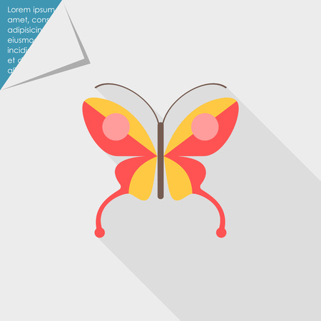 butterfly: Red butterfly icon Illustration