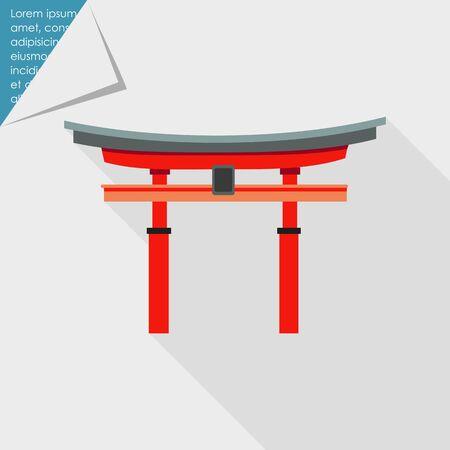 torii: Icono de la puerta torii japonesa