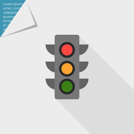 guiding light: Traffic light icon