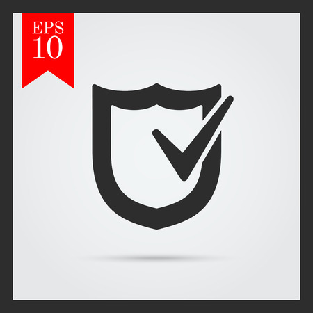shield: Icon of shield with checkmark