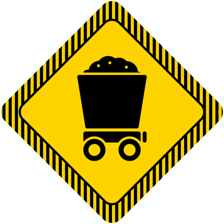 wagon wheel: Icon of loaded wagon Illustration