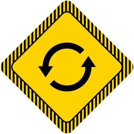 reviser: Ic�ne de signe de rechargement avec la fl�che cercle pictogramme Illustration