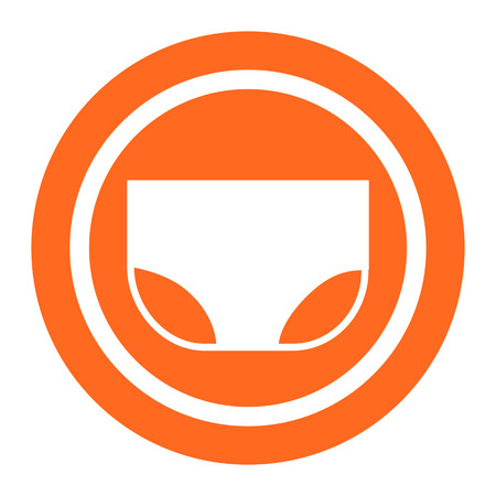 absorb: Baby diaper icon Illustration