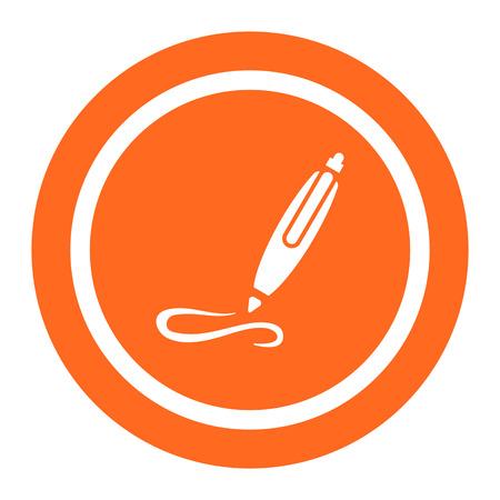 Icon of writing ball pen Illustration