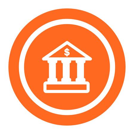 facade: Icon of bank building facade with dollar sign