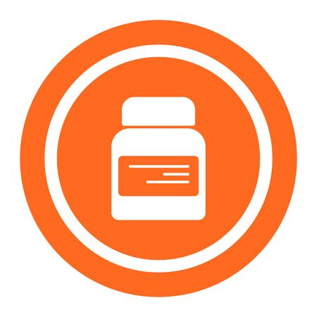dietary: Icon of dietary supplement bottle with label