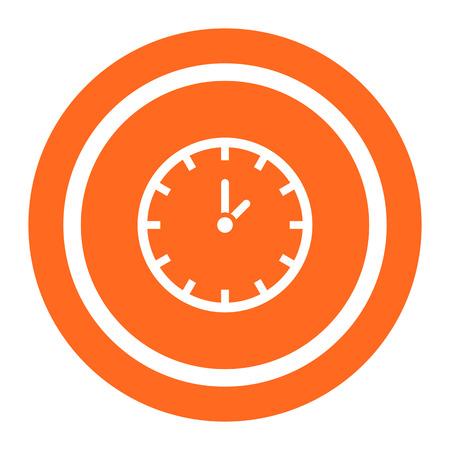 job deadline: Clock icon Illustration