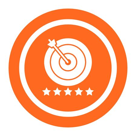 five stars: Icon of target hit with arrow and five stars