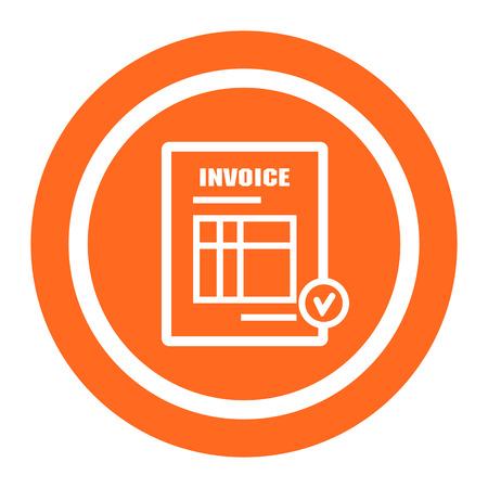 invoice: Icon of invoice document Illustration