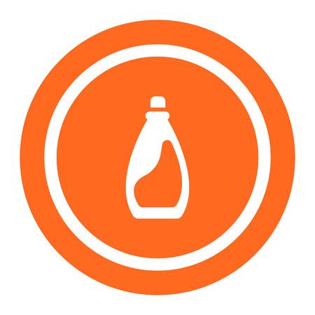 lavander: Icono de la botella de plástico de detergente líquido