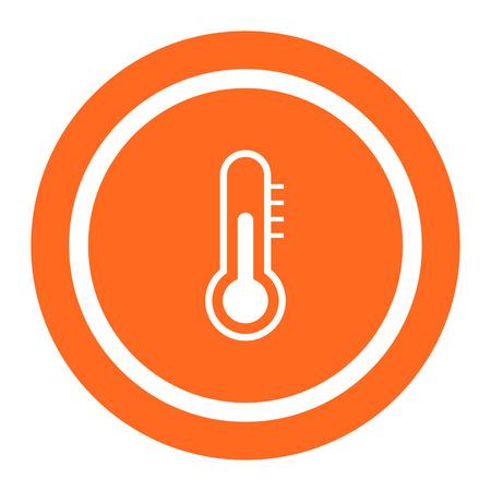 measuring: Thermometer icon Illustration