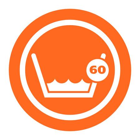 calor: Icono de la etiqueta de lavado Lavado a 60 � C o por debajo de la muestra