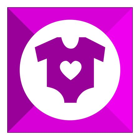 clothe: Icon of baby clothe with heart print
