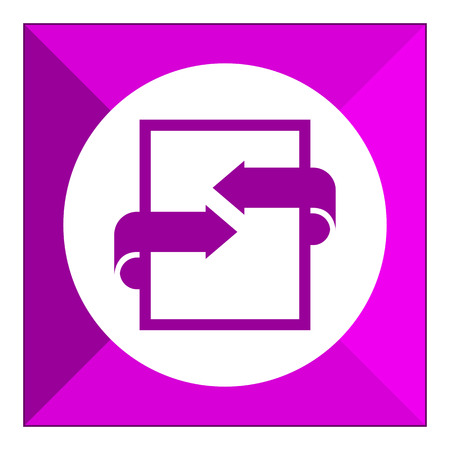 signing papers: Icon of document with arrows