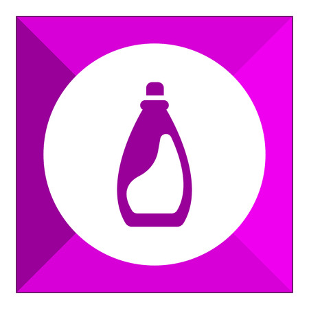 laundry detergent: Icon of plastic bottle of liquid laundry detergent