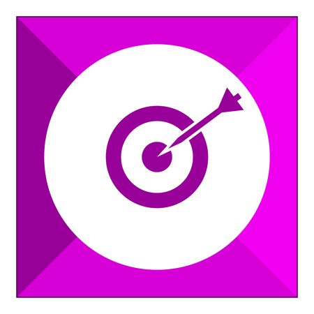 hitting: Icon of dart hitting target