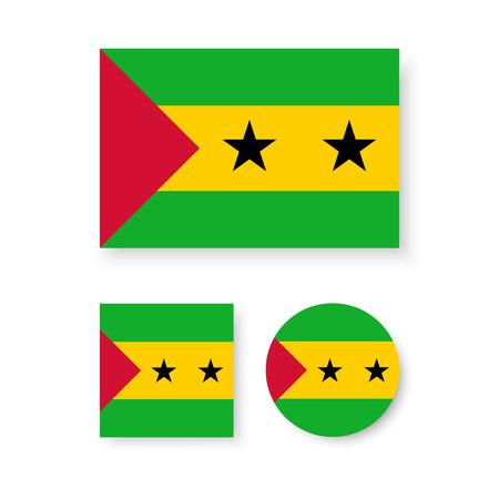 principe: Conjunto de iconos vectoriales con Santo Tomé y Príncipe bandera