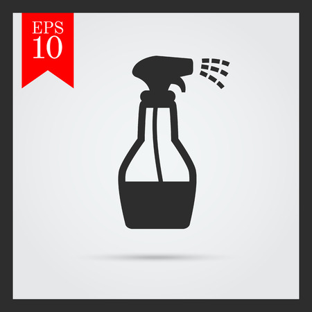 spray bottle: Icon of spray bottle with cleaning liquid Illustration