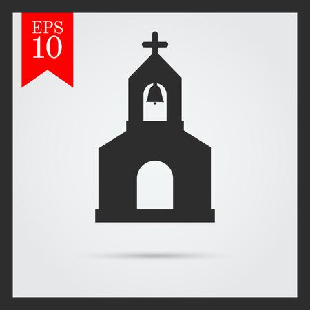 worshiping: Church building icon