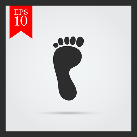 flatfoot: Human footprint icon Illustration