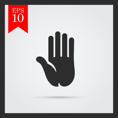 palm of hand: Hand palm icon