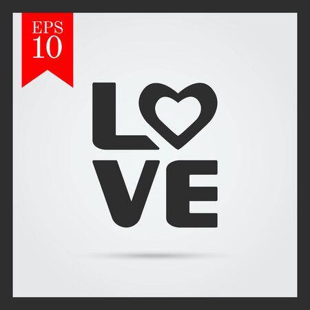 inscription: Love inscription icon