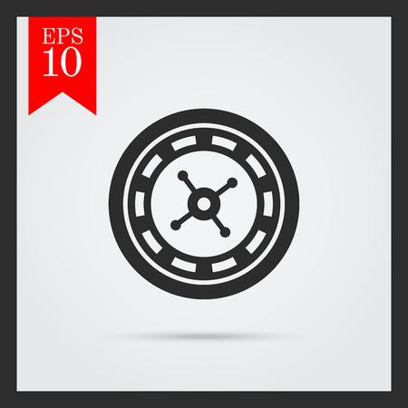 ruleta: Icono de la rueda de la ruleta