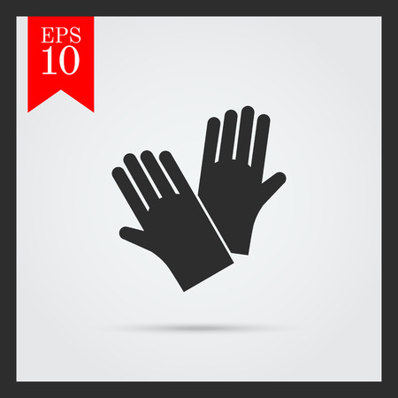 protective gloves: Icon of protective rubber gloves