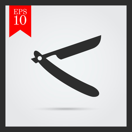 straight razor: Icon of open straight razor