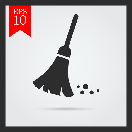 sweeping: Sweeping broom icon
