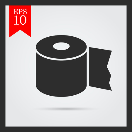 paper roll: Icon of toilet paper roll Illustration