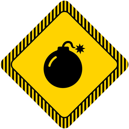 detonating: Bomb icon Illustration