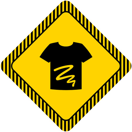 dirty t shirt: Icon of dirty t-shirt with stain