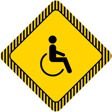 silla de ruedas: Icono de la silueta del hombre en silla de ruedas