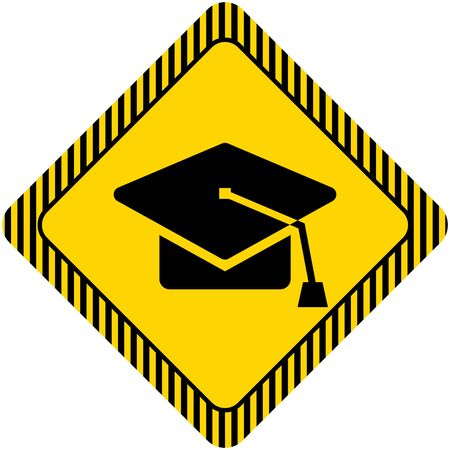 final examination: Graduation cap icon