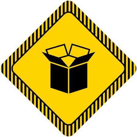 tare: Icon of open carton box