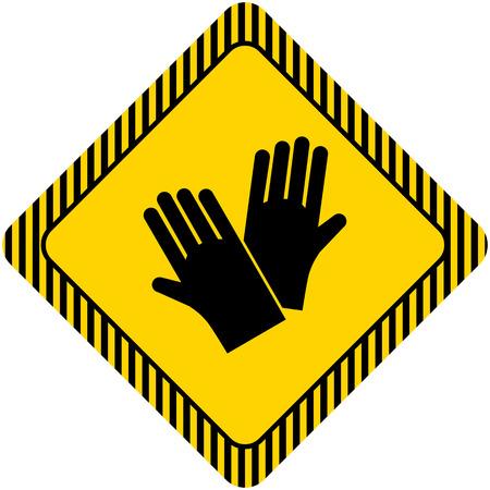 Icon von Gummi Schutzhandschuhe