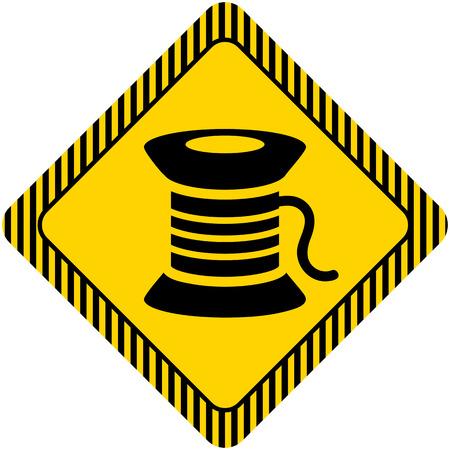 spool: Sewing spool icon Illustration