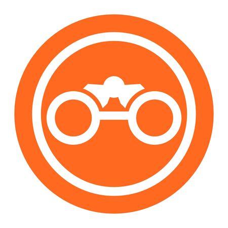 focus on background: Binocular icon