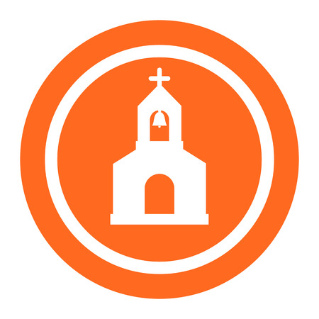 worshiping: Church building icon