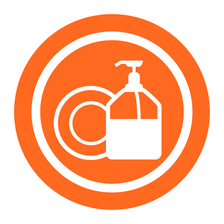 plate: Icon of plate and pump detergent bottle