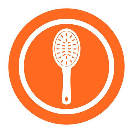 hairbrush: Hairbrush icon Illustration