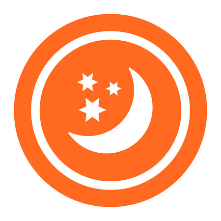 crescent: Icon of crescent moon and stars