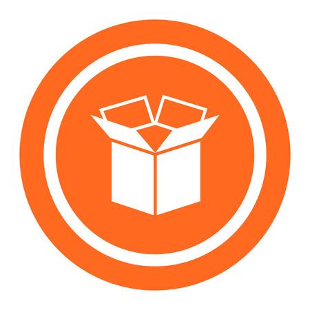 unpacking: Icon of open carton box